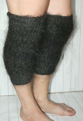 Knee warmer elbow wrap 100% natural goat down yarn Hand knitted