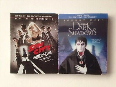 Frank Millers Sin City: A Dame to Kill For Dark Shadows Blu-ray Lot