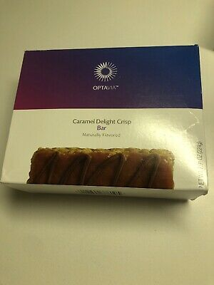 Medifast Optavia Caramel Delight Crisp Bar 7 Bars - New! Exp 10/17/2019