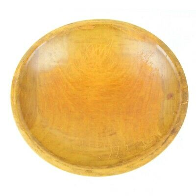 Vintage Hand Turned Dough Bowl Bread Wood Out of Round Patina Primitive 11""