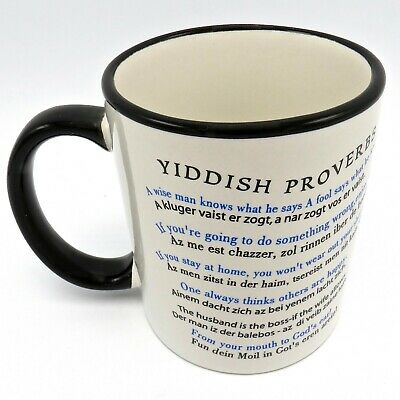 Yiddish Proverbs Coffee Mug 13 Different Jewish Sayings A Man Thinks, God Laughs