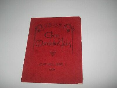 Vintage 1903 Harvard University Glee and Mandolin Clubs Program Ve Ri Tas