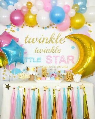 Twinkle, Twinkle Little Star Gender Reveal Baby Shower Party Decoration Supplies