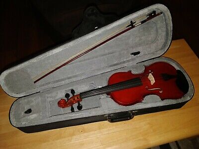 4/4 Full Size Acoustic Violin for Student Beginner w/ Case,Bow,Rosin & Chin Rest