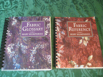 Fabric BOOKS Lot Reference Glossary 2 textbooks spiral textile identification