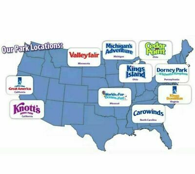 2 tickets to any Cedar Fair Theme Park: Cedar Point, Knotts Berry Farm + more
