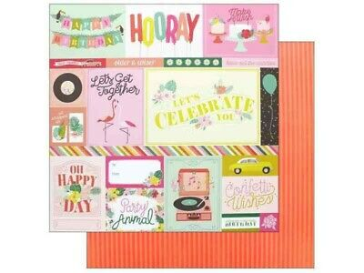 """SPELLCAST #11-12x12/"""" Double-sided Scrapbooking Paper Pink Paislee"""