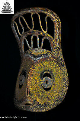 Fine Vintage Abelam Yam Ceremonial Harvest Mask, Wosera, PNG, Papua New Guinea