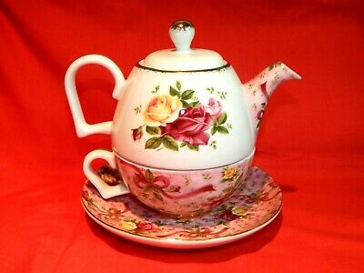 Royal Albert Old Country Roses Chintz Tea For One Excellent!