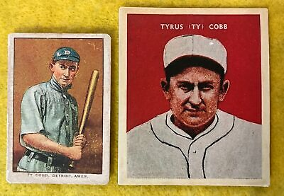 Ty Cobb Baseball Card Lot 2 1911 D 304 1932 Us Caramel Tigers Rp