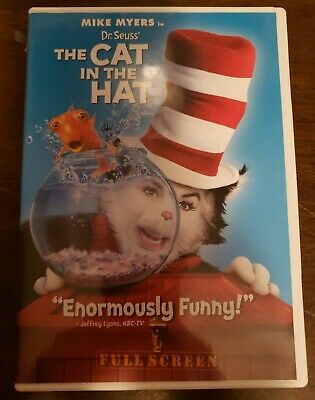 Dr. Seuss The Cat in the Hat (DVD, 2004, Full Frame Edition)