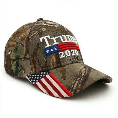Hot 2019 Donald Trump 2020 Cap USA Flag Camouflage Baseball Cap Hat Make G0L7