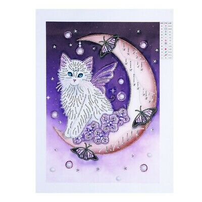 Special Shaped Diamond Painting Lovely Cat Diy 5D Partial Drill Cross Stitc I2Y2