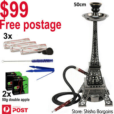 STARTER PACK: High Quality Eiffel Tower Hookah + flavor+ charcoal+ free postage