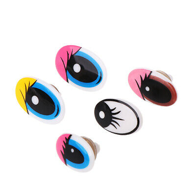 10pcs Plastic Cartoon Safety Doll Eyes DIY For Toy Bear Doll Crafts With Washers