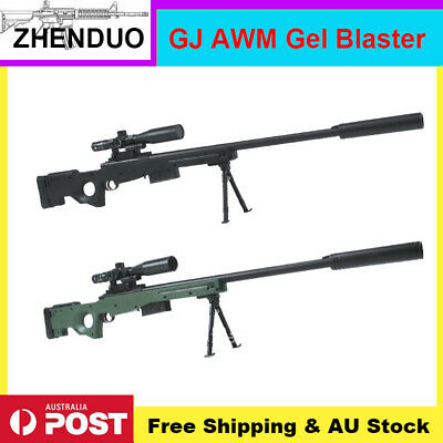 Manual Bolt Action GJ AWM Gel Ball Gun Toy Blaster Water Bullet Mag-fed AU Stock