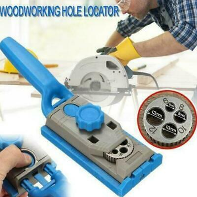 2in1 Genius Jig Pocket Hole Drill Round Tenon-Locator Woodworking Joining Tackle