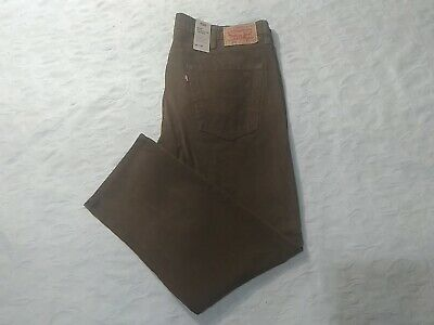 0ef791410cf7c6 Levi's 502 Regular Taper Corduroy Pants Mens Size 40X30 Brown Stretch New  Nwt