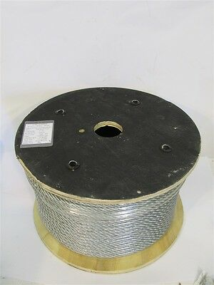 """Galvanized Steel Wire Rope, 3/8"""" PVC 7/16"""" x 200', Plastic Coated wire"""