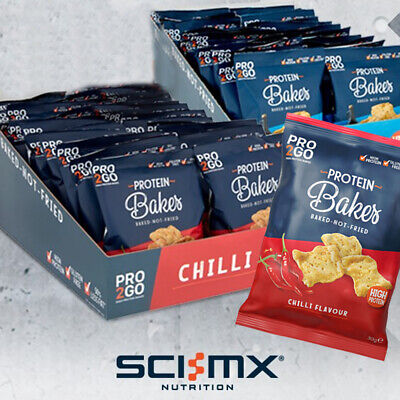 Sci-Mx Pro2Go Bakes High Protein 24 x 30g Crisps Whey Pro 2 Go Duo Snack Chips