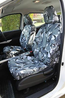 FITS NISSAN NAVARA NP300 DOUBLE CAB 2017 FRONT /& REAR SEAT COVERS 242 243