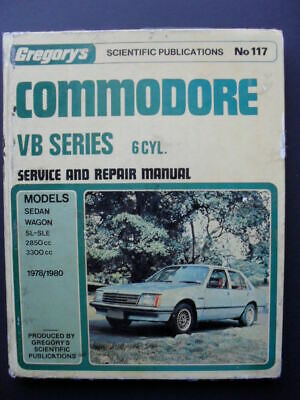 HOLDEN COMMODORE: VB Series: 6 Cyl: Gregorys Service, Repair Workshop Manual 117