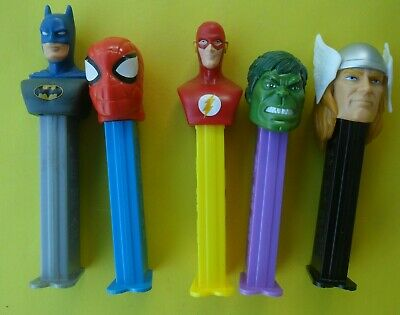 5 x MIXED PEZ DISPENSERS IN GOOD CONDITION DATES UNKNOWN FREE TRACKING POSTAGE