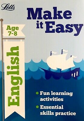 English, Age 7-8, KS2, Letts, Fun Learning Activities, Make It Easy, New