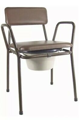AIDAPT Kent Stacking Commode Chair VR160 New Damaged Box Resealed
