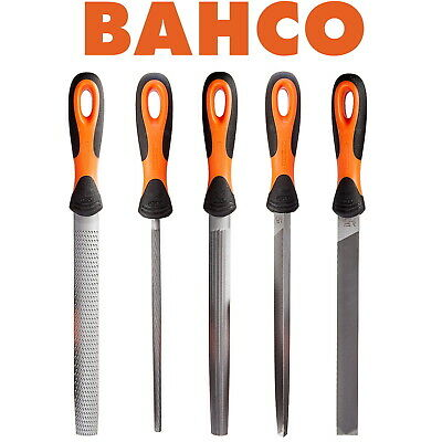 """Bahco 5 Piece Engineers File Set 8"""" Hand Files In Roll Up Tie Wallet. 478-08-1-2"""