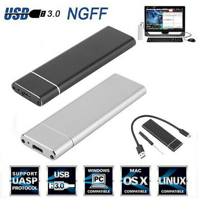 M.2 NGFF SSD Hard Disk Drive Case USB Type-C USB 3.0 NVME PCIE HDD Enclosure  d~