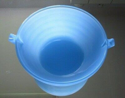 Phoenix Blue Sprayware Ribbed Bowl with Handles