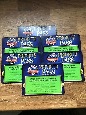 6x Alton Towers Green Priority Fast Track Passes