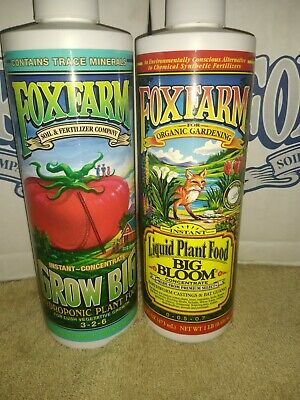 Fox Farm Hydroponic Nutrients- Big Bloom & Grow Big-16 Oz Each Top Quality