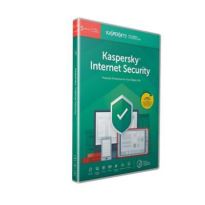 Kaspersky Internet Security 2019 5 Devices 1 Year PC/Mac/Android Activation Post