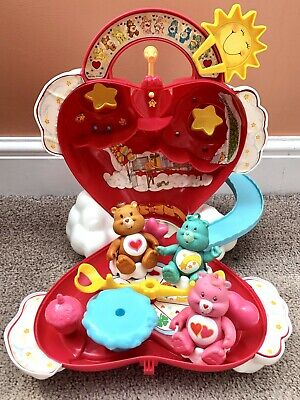 Vintage Care Bears Care-a-lot Playset w/ Accessories - Kenner 1983