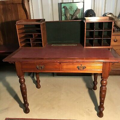 Edwardian 2 Drawer Desk With Gallery
