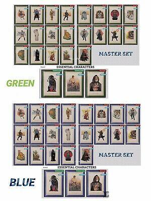 Topps Star Wars Card Trader - Essential Characters MASTER SET Green/Blue