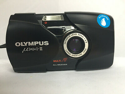 Olympus MJU II 35mm Point and Shoot Film Camera, MINT, Film Tested, Working