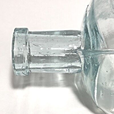 Antique Medicine Bottle Embossed Aqua Dr Shoops BIM Air Bubbles Dating 1860-1880