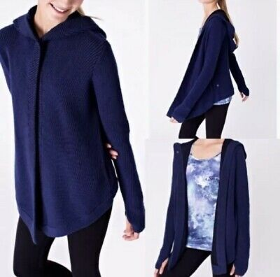 Ivivva To The Moon And Back Cardigan Navy Girls Size 14