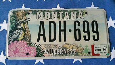 plaque d'immatriculation Montana Us ADH 699 Usa license plate - Wilderness