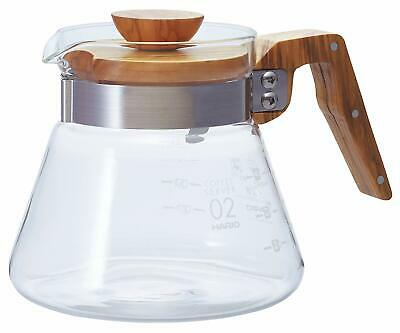 186069 Hario 400?ml olive Wood New Coffee server, Transparent, 4 Cup B00TF7LW2Y