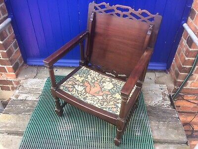 Hall Chair,Bedroom Chair,Monks Chair Arts And Crafts Style Fold Top Chair/ Table