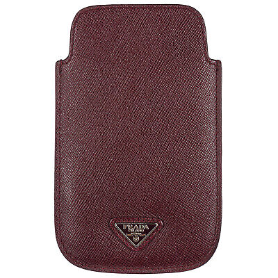 Prada Cover Case Decken Iphone Hülle 5 5S Neu Bordeaux E3C