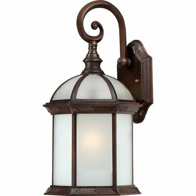 Nuvo Lighting One Light Included Frosted Glass Rustic Bronze Outdoor Fixture