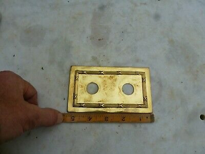 Vintage Brass Light Switch Plate Front Case Art Deco Antique Old Copper Plated