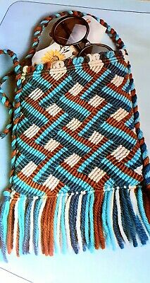 How to make a.Persian Pattern Macrame  Check Shoulder  Bag Pattern