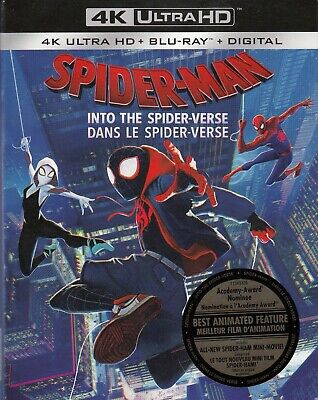Spiderman Into The Spiderverse (4K Ultra Hd/Bluray)(2 Disc Set)(Used)