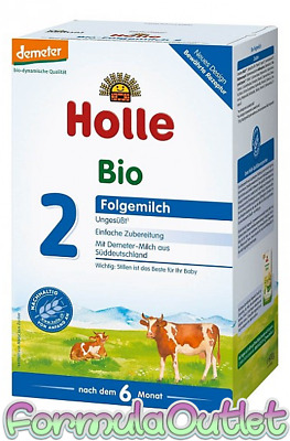 4 Boxes Holle Organic German Stage 2 Formula 600g - Blemished Box - SHIPS FREE!